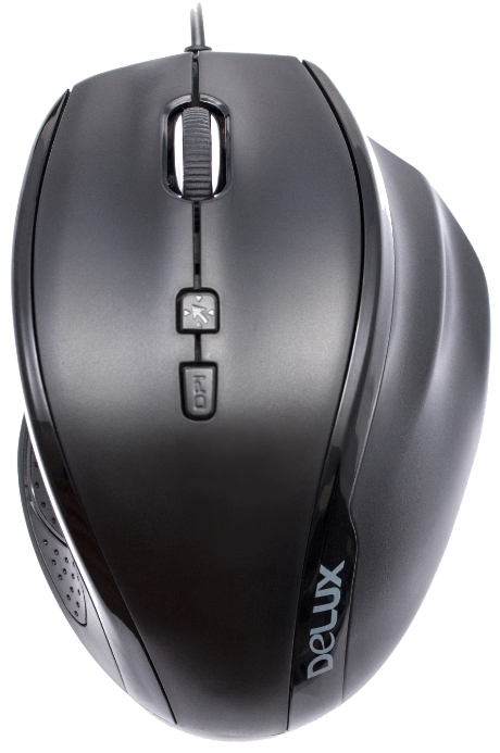 DELUX OPTICAL MOUSE USB BLACK DLM-M537