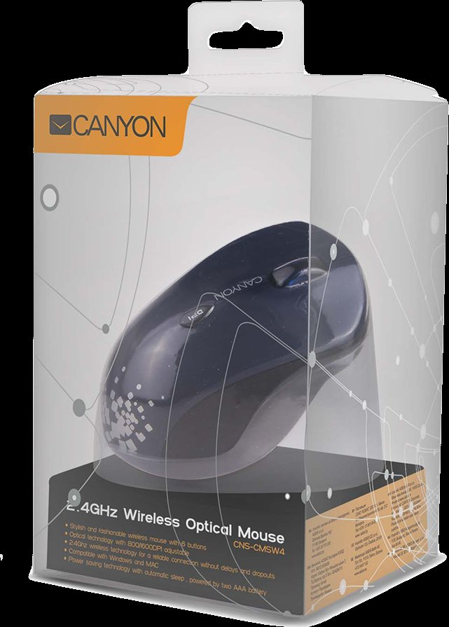 CANYON WL OPTICAL MOUSE CNS-CMSW4BL BLUE