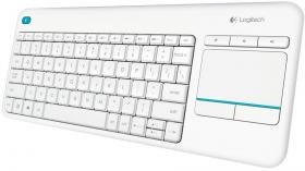 LOGITECH WIRELESS TOUCH  K400 PLUS - INTNL - US INTERNATIONAL LAYOUT - WHITE