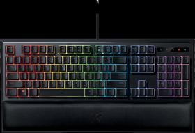 RAZER ORNATA CHROMA  MULTI-COLOR MEMBRANE GAMING,MID-HEIGHT KEYCAPS ,CUSTOMIZABLE LIGHTING WITH FULL 16.8 MILLION COLORS,ERGONOMIC WRIST REST
