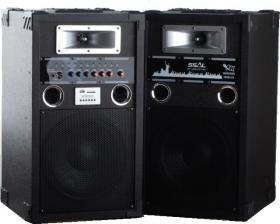 BOOM BOX+MP3 PLAYER+AMPL+KARAOKE WT-1008 BLACK